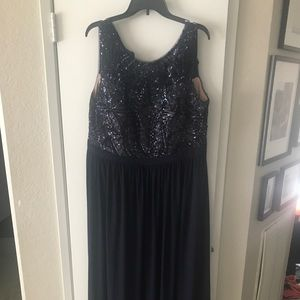 Gorgeous navy sequin ball gown plus size 16W